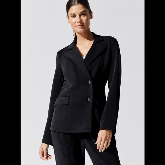 🌺NWT Carbon38 Reverse Neoprene  black blazer